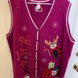 Women's holiday vest